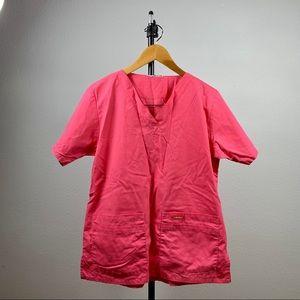 Hot Pink Short Sleeve Scrub Top